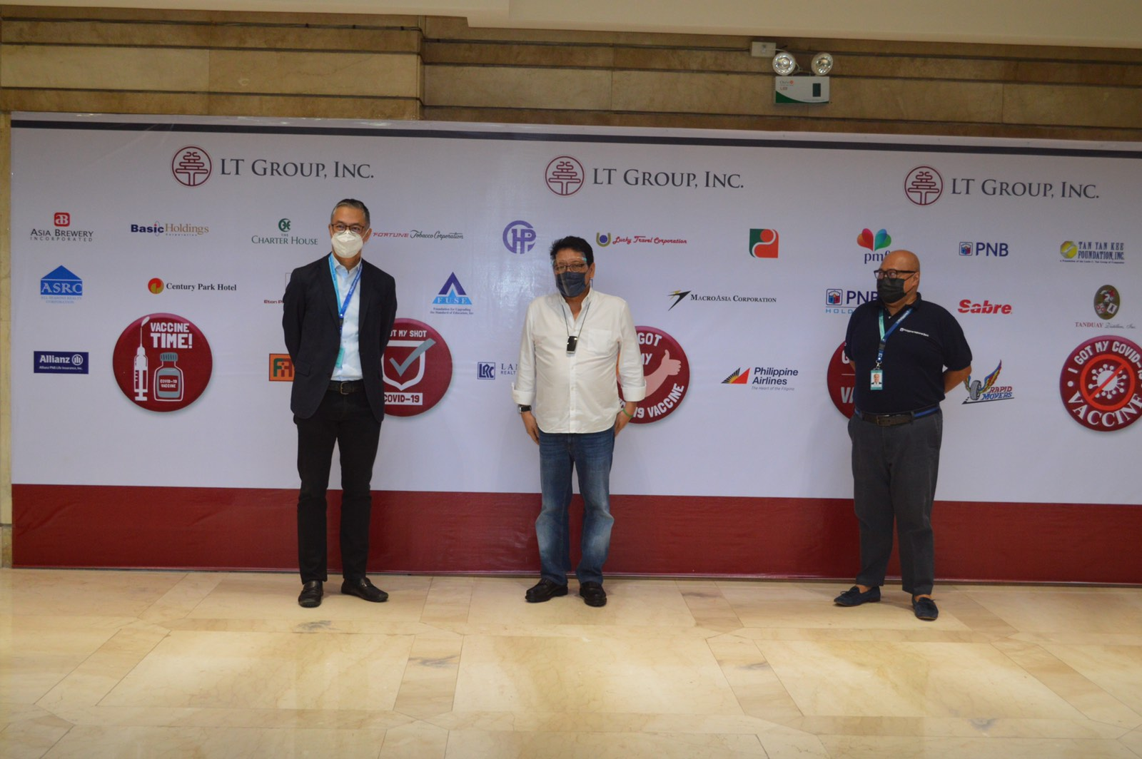 PNB and LT Group, Inc. open vaccination facility