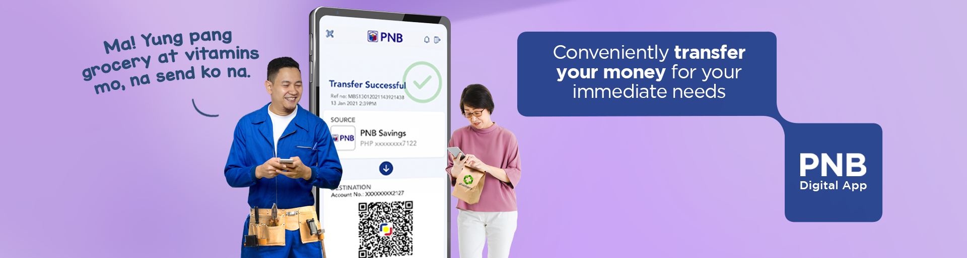 PNB Digital banking Send Money
